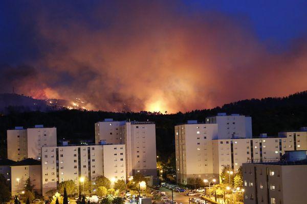 Incendie à Aubagne le 19 août 2017