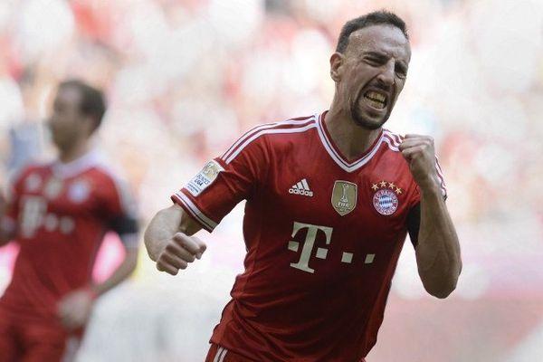 Franck Ribéry, samedi 26 avril 2014 à Munich (5-2 fce au Werder Brême).