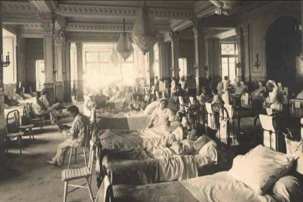 L'hôtel L'impérial, transformé en hôpital militaire pendant la première guerre mondiale