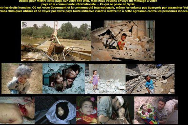 La page de Syria Today sur le site de la mairie