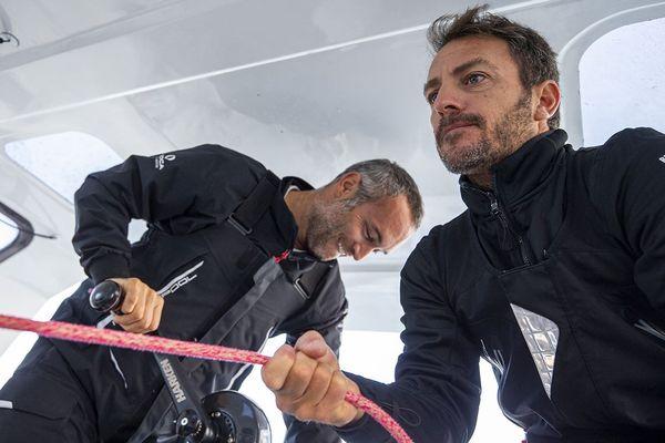 Avec cette nouvelle édition de la Transat Jacques-Vabre, Fabrice Amedeo et Eric Péron traversent ensemble pour la deuxième fois l'Atlantique en double.