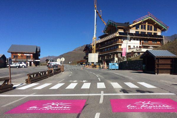 La ligne d'arrivée est déjà prête à La Rosière.