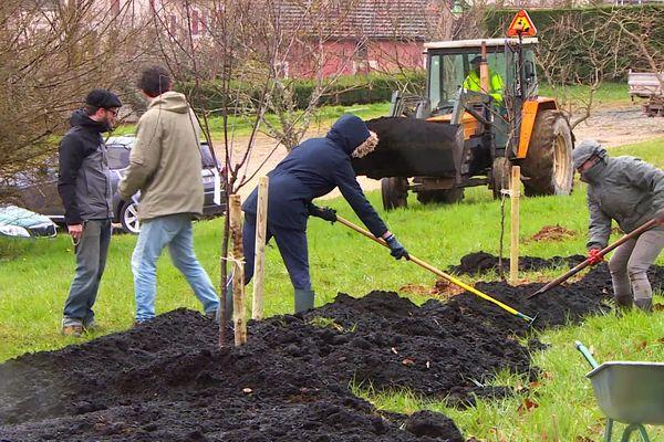 La première forêt comestible de Dordogne implantée à La Douze