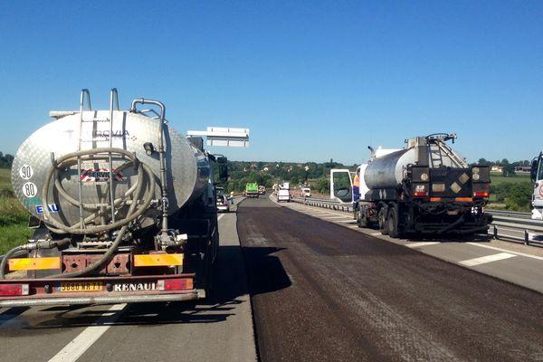 Les travaux de réfection de l'enrobé de la RCEA entre Paray-le-Monial et Mâcon dureront toute la 1ère quinzaine de septembre