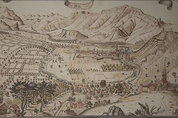 La cuvette grenobloise vue de Montfleury à Corenc en 1604