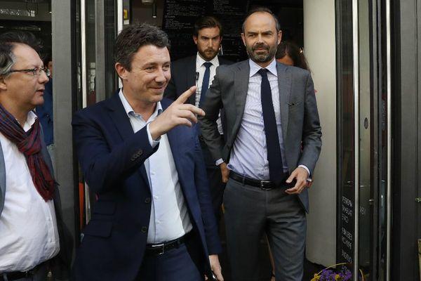 Benjamin Griveaux aux côtés du Premier Ministre Edouard Philippe, à Paris le 9 juin 2017.