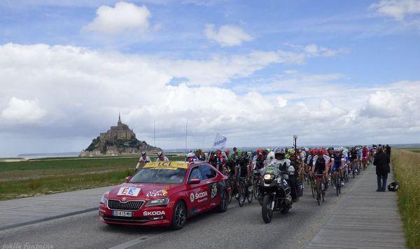 Départ du Tour de France 2016 au Mont-Saint-Michel
