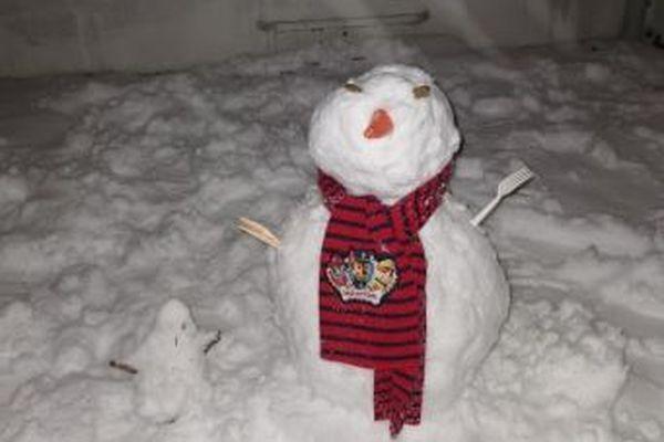 Un autre bonhomme de neige à Châlons-en-Champagne.