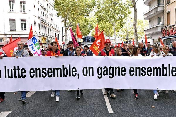 Manifestation des retraités et de la fonction publique à Lyon le 24 septembre 2019