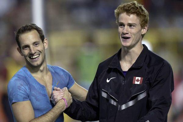 Renaud Lavillenie et Shawn Barber.