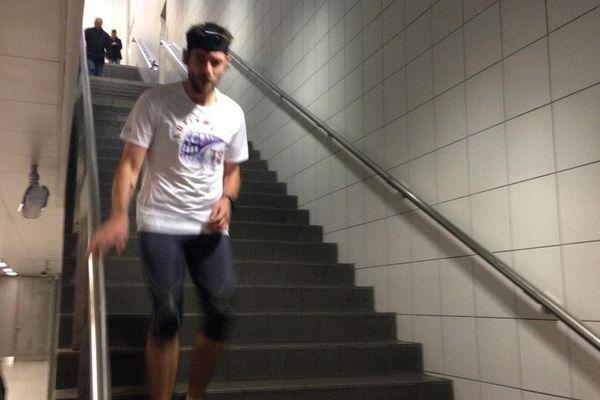 Sébastien Philippe dans sa course contre le métro rennais