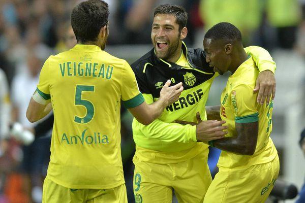 Le FC Nantes face à Montpellier lors du match aller en août 2014