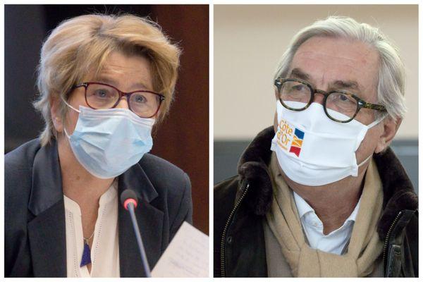 Marie-Guite Dufay et François Sauvadet.