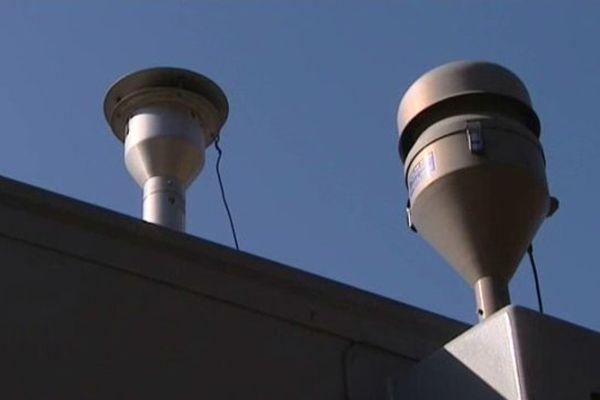 Des capteurs de mesure de la pollution de l'air à Toulouse.