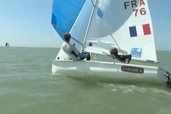 L'équipe de France de voile 470 en stage au Havre