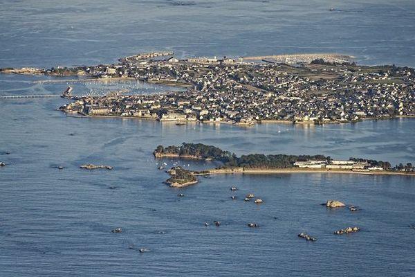 Une vue aérienne de Roscoff