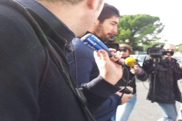 Montpellier : Nikola Karabatic a sa sortie de son entretien avec les dirigeants du MAHB - 30 octobre 2012.