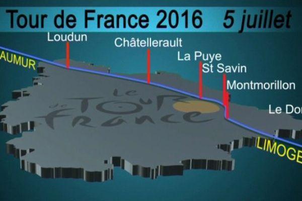 L'étape du Tour de France du 5/07/2016 traversera une partie de la Vienne.