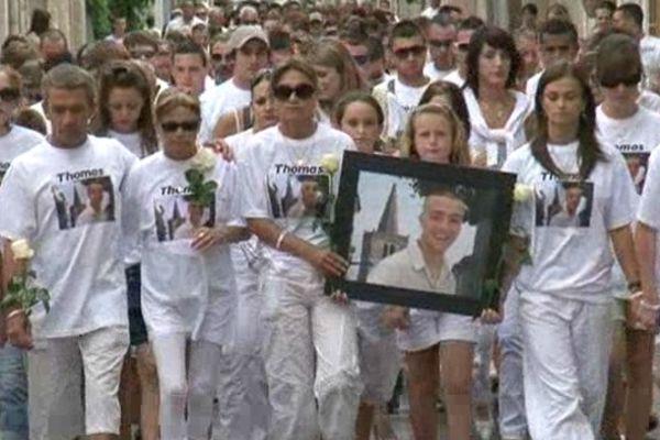 Sérignan (Hérault) - marche blanche pour Thomas - 26 juillet 2012.