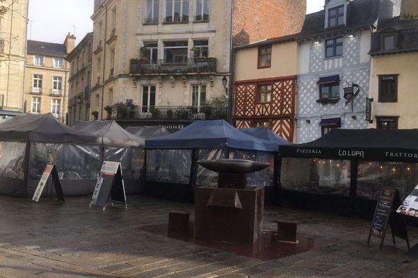 Terrasses couvertes place Sainte-Anne à Rennes