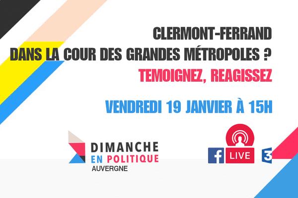 Interagissez pendant notre Facebook live, vendredi 19 janvier à 15h00, sur la page Facebook de France 3 Auvergne.