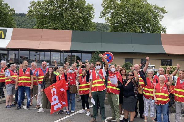 Les salariés grévistes sont soutenus par l'union départementale CGT 31.