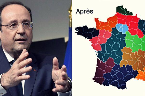 La nouvelle carte des régions de François Hollande