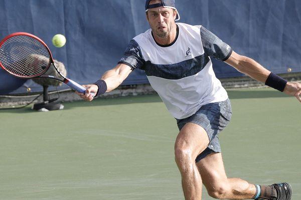 Le joueur luxembourgeois Gilles Müller lors de l'US Open le 30 août 2017.