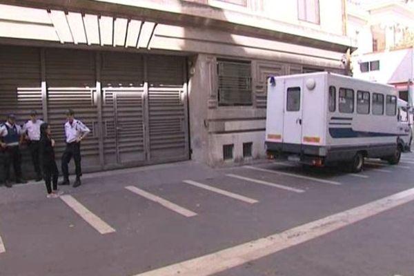 Wojciech Janowski s'est rendu dans ce camion au palais de justice de Marseille