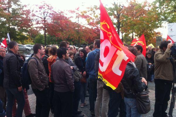 Manifestation des salariés de Renesas et Alcatel à Rennes