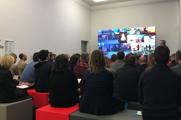 Présentation de la deuxième promotion de l'incubateur NMcube de Nantes. Médiacampus le 22 janvier 2018