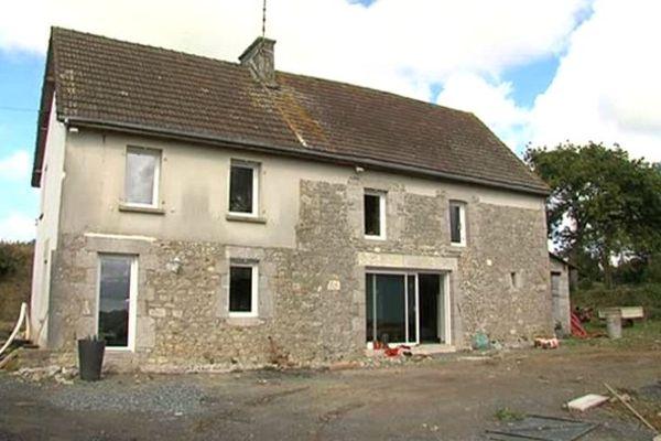 Une maison rénovée, à Orval, dans la Manche