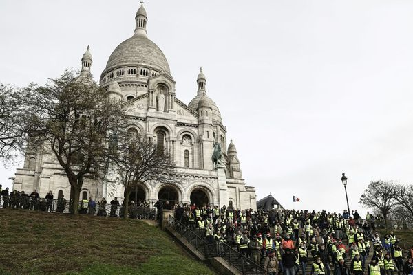 """Les gilets se sont donnés rendez-vous à Montmartre ce samedi 22 décembre, pour l'""""acte 6"""" du mouvement à Paris (illustration)."""