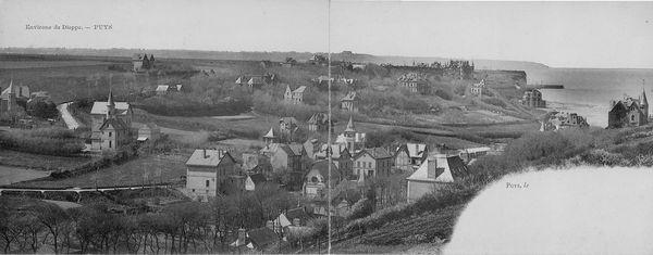 Vue ancienne du hameau de Puys