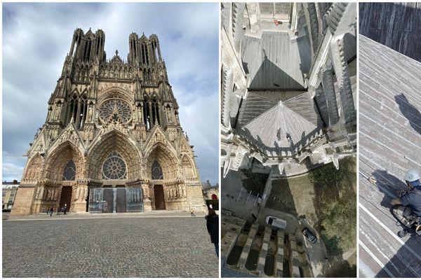 La cathédrale Notre Dame de Reims subit à partir du 1er septembre des travaux de restauration sur la toiture.