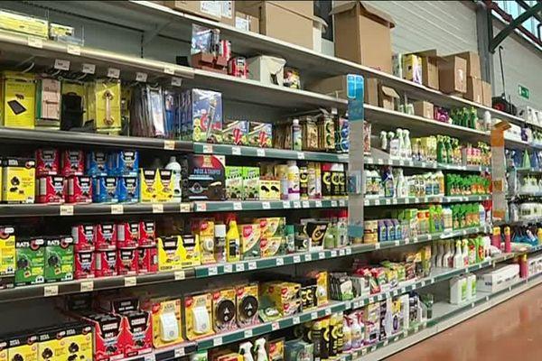 Rayon de produits pesticides autorisés depuis le 1er janvier 2019