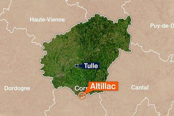 L'accident s'est produit sur la D 940 au lieu dit La Combotte sur la commune d'Altillac en Corrèze