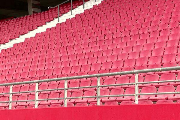 Les tribunes du stade Gaston-Gérard à Dijon