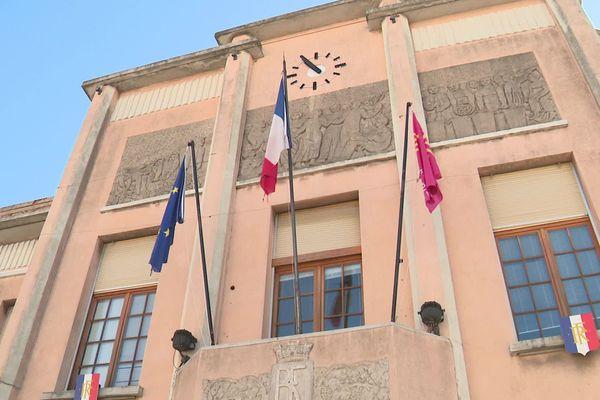 Mairie de Trèbes, près de Carcassonne dans l'Aude - illustration