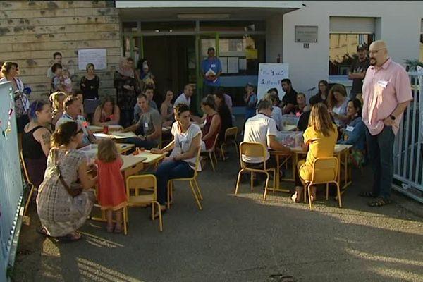 Mobilisation des parents de l'école maternelle de la Butte à Besançon