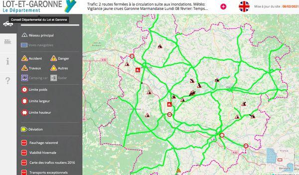Le site Inforoutes47 renseigne en temps réel l'état des routes en Lot-et-Garonne