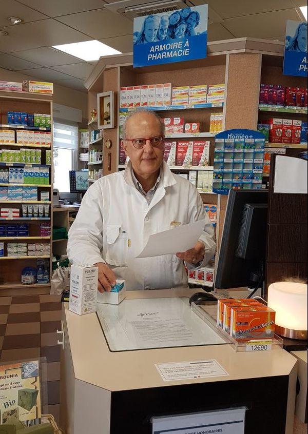 """""""la pharmacie a un rôle médical et sociétal"""" explique Pierre Kreit qui exerce à Vanault-les-Dames"""