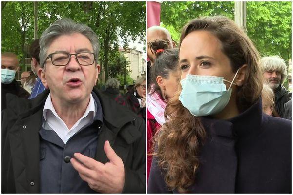 Jean-Luc Mélenchon était à Agen ce samedi 15 mai pour soutenir la candidate aux élections régionales Clémence Guetté.