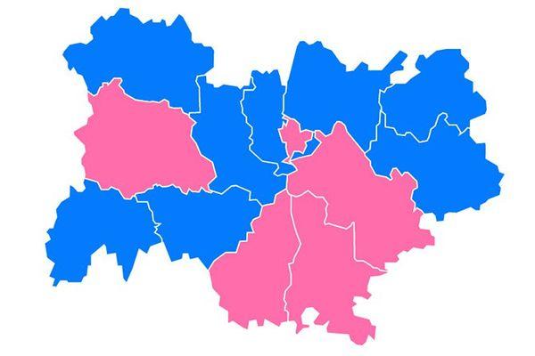 Les couleurs politiques aux élections Régionales 2015 en Auvergne-Rhône-Alpes