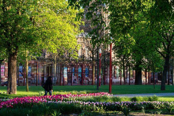 Le parc Lebas à Lille.