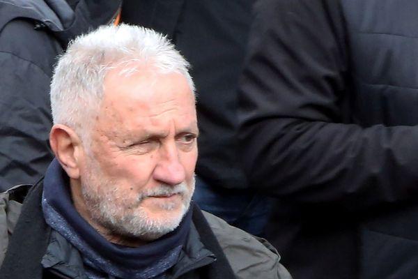 L'ex-leader du FLNC, Charles Pieri, lors d'une manifestation le 3 février 2018 à Ajaccio (Corse du Sud)