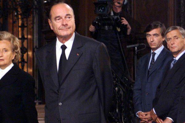 Jacques Chirac durant l'hommage aux victimes d'AZF