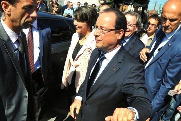 François Hollande à Denain, mardi 3 septembre 2013