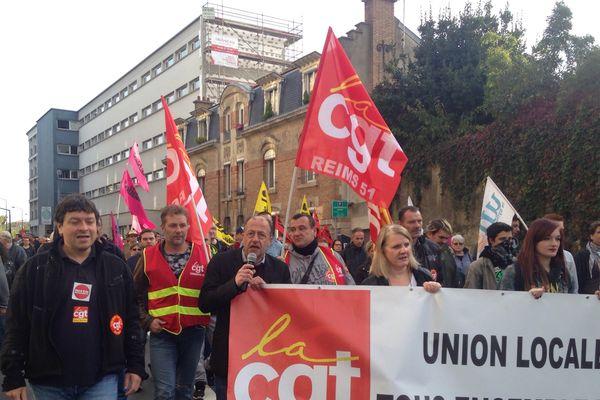 La Cgt a appelé à un rassemblement ce matin à 10h à Reims.