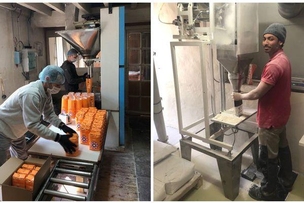 Les Moulins Viron et les Moulins de Chérisy ensachent des paquets de farine de 1 kilo. Mais ils n'ont pas les équipements adaptés.